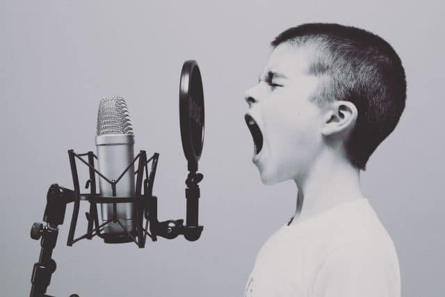 boy singing representing the 'all talk but no answers' seller