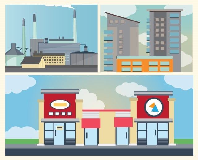 retail properties vs. apartment buildings vs. industrial