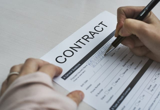 signing a contract with a CRE partner